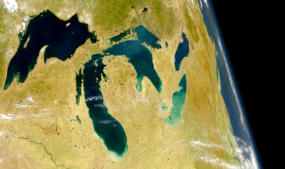 Image of Great Lakes from Space