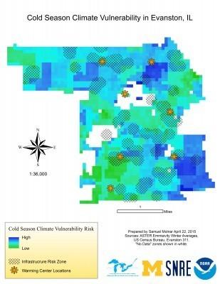 Cold Season Climate Vulnerability in Evanston, IL