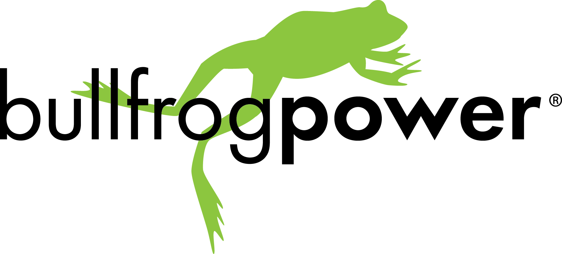 Bullfrog Power logo - Great Lakes and St  Lawrence Cities
